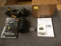 Nikon D90 DSLR With Nikon 55-200mm Lens, Plus Accessories