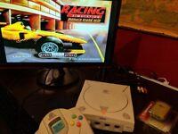 Sega Dreamcast console Bundle 6 games , VMU , Vibration pack(NEW) , Retro gaming, collection