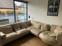 DFS leather corner sofa BARGAIN
