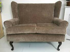 Two seater fireside wing back chair
