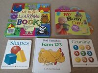 Baby book bundle - lift the flap Farm by Rod Campbell My first learning - hardboard book