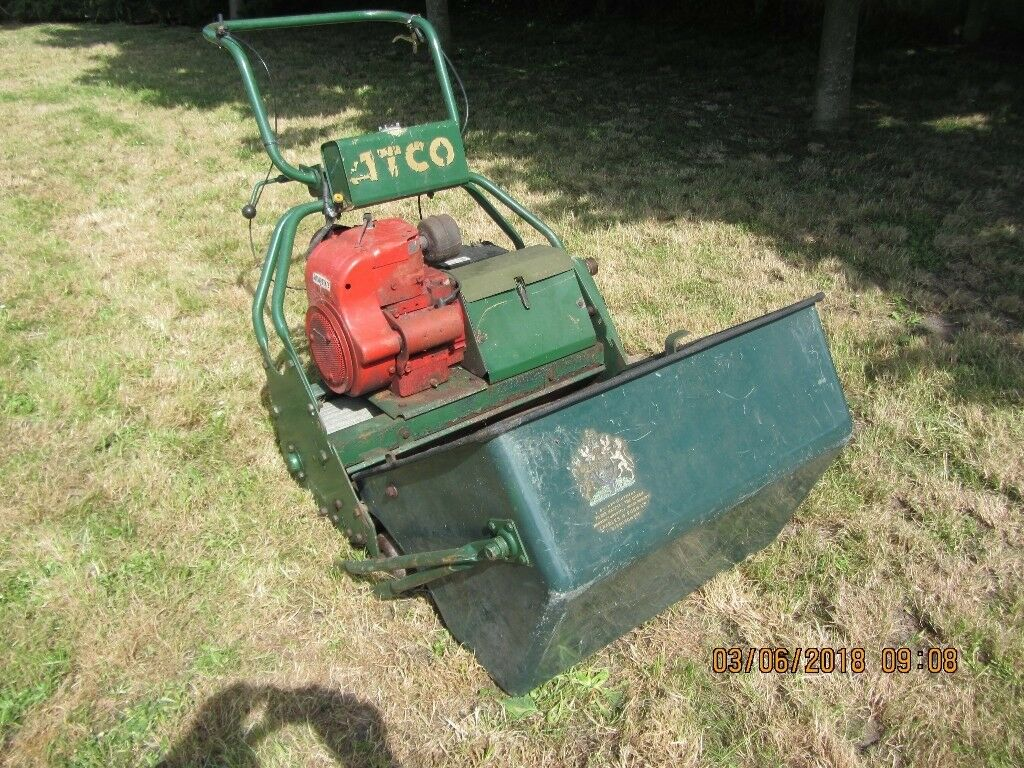 Lawnmower-By-Royal-Appointment with spare engine Atco-28inch-or-71cm