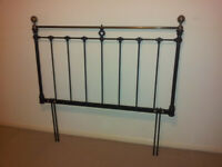 Double bed metal headboard in black #FREE LOCAL DELIVERY#