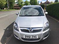 2011 (61) Vauxhall Zafira Excite Mpv 7 Seater 42k Full Service History Long MOT Top Spec (touran)