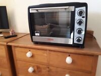 Mini electric oven with double hob