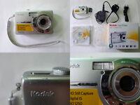 KODAK Easyshare M753 7.0 Mp Silver Compact Digital Camera SD Memory Card Boxed £70 ONO