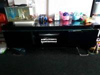 High gloss black unit with led lights
