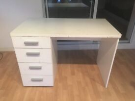 White Desk with Drawers for FREE