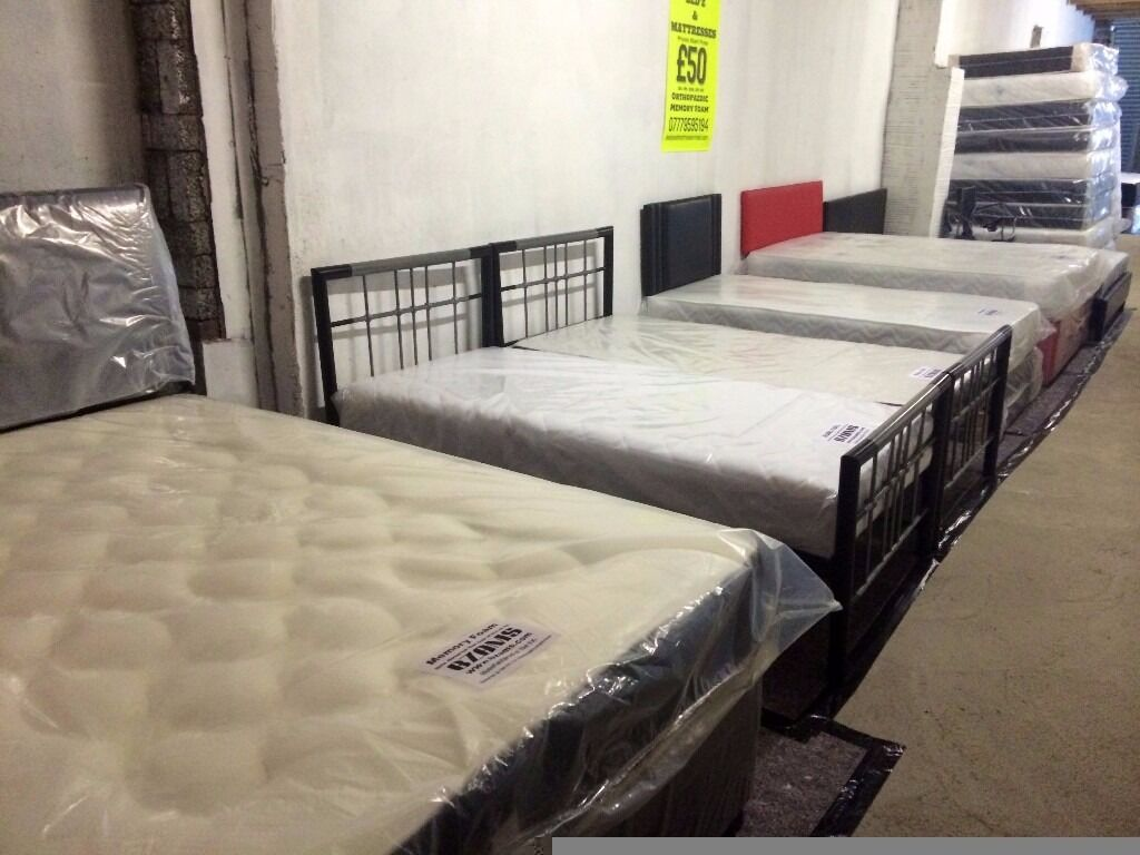 Brand new 4ft6 double 5ft king pine or prado or divan or for Double divan bed without headboard