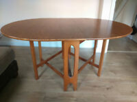 Drop leaf dining table, wooden