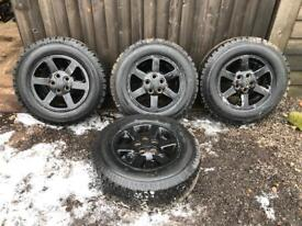 """Set of 4 16"""" landrover td5 Alloy Wheels with off road tyres"""