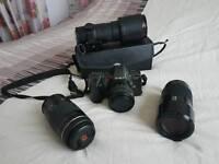Minolta Dynax 8000i 35mm Slr camera plus lenses!