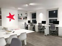 Modern desk space - Bournemouth Town Center