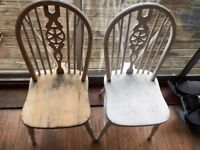 Two wooden Kitchen Chairs for DIY project