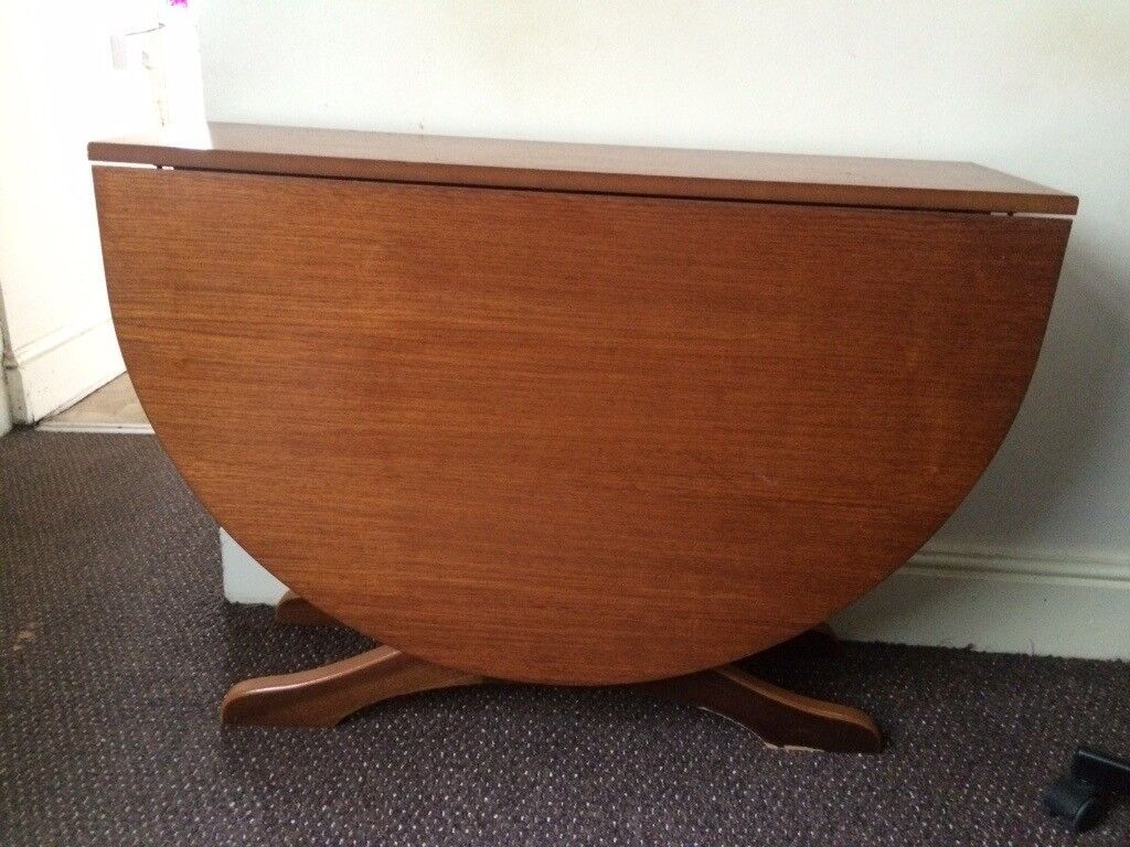 Wooden Drop Leaf Foldable Dining Table (seats 6) | in Roath Park ...