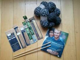 Knitting bundle for sale. Almost all items never used. Good quality needles and wool.