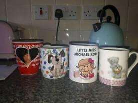 4 mugs for sale. £2 each.