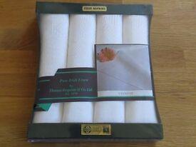 Pure Irish Linen Napkins by Thomas Ferguson & Co Ltd - Brand New in Box
