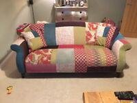 Patchwork 3 seater sofa