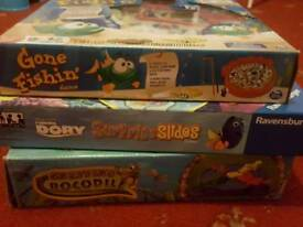 3 family GAMES, sea animals Nemo Dory