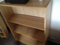 IKEA Billy Bookcase In Oak Veneer With Three Adjustable Shelves 80cm x 107cm, Very Clean Condition