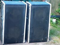 "SPEAKERS - PAIR OF HIGH FIDELITY DOUBLE 12"" FULL RANGE DISCO SPEAKERS."