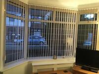 Vertical bay blinds suitable for upvc windows
