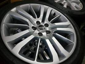 20 INCH ORIGINAL RANGE ROVER ALLOY WHEELS AND TYRES