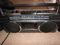 hitachi stereo boombox vintage 1980s perfect working order