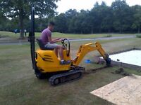 JCB Mini Micro Doorway Digger for Hire in Surrey and the South East