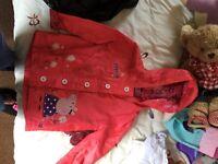 Peppa pig rain coat 3-4