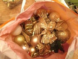 Christmas tree decorations bulbuls,beads ,lights