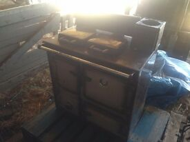 RAYBURN SOLID FUEL AGA/RANGE. GOOD WORKING ORDER. FREE UK MAINLAND DELIVERY.