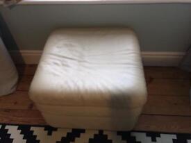 Cream footstool