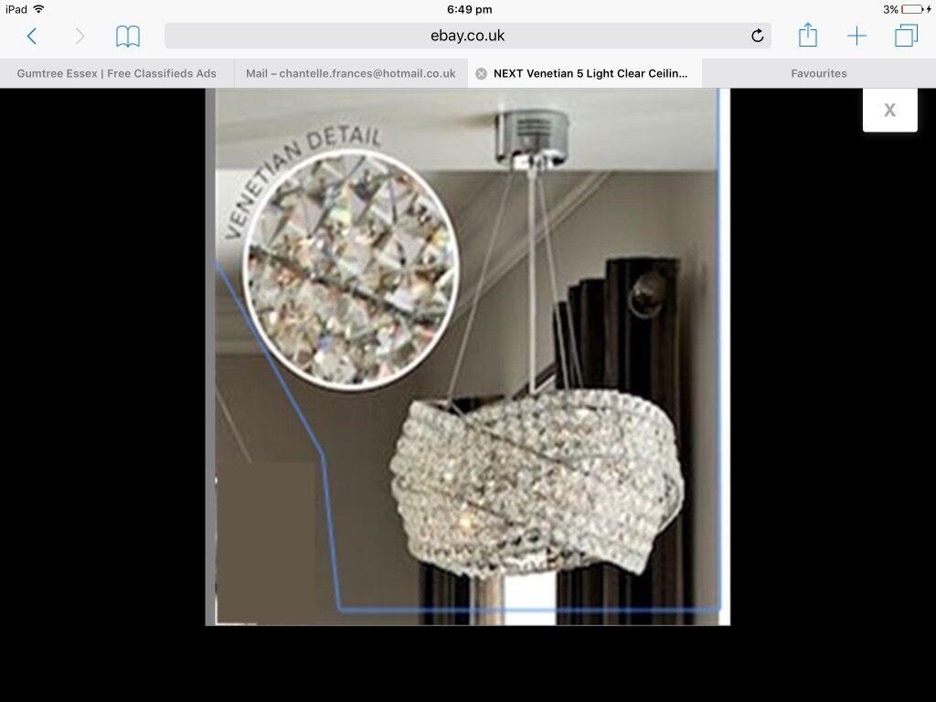 BRAND NEW BOXED Next Venetian crystal chandelier £140   in ...