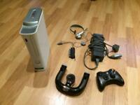 White Xbox 360 plus Bundle plus 15 Games