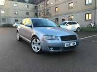 AUDI A3 S-LINE*6 SPEED GEARBOX EXAMPLE*LONG MOT*FULL SERVICE HISTORY*VERY LOW ON FUEL*BARGAIN