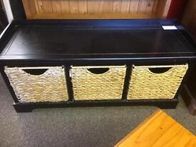 Wood & wicker window seat * free furniture delivery*