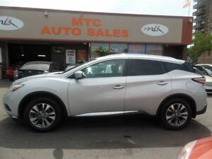 2015 Nissan Murano SL, LEATHER, NAV, BACKUP CAM, AWD