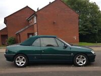 1998 PEUGEOT 306 CONVERTIBLE MANUAL ONLY 57,000 MILES BARGAIN MUST SEE