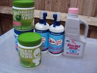 Assorted caravan/motorhome toilet products