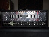 Dean ML Custom Run Chrome, Mesa Boogie Triple Rectifier with Footswitch and Randall RA412 Angled Cab