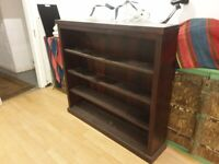 Large heavy solid hardwood bookcase, for sale, obviously.