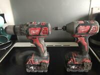 Milwaukee m18 drill set