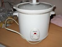 elgento slow cooker3 litre white new cond