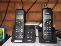BINATONE TWIN DIGITAL CORDLESS PHONES LUMA 1220 WITH ANSWER MACHINE