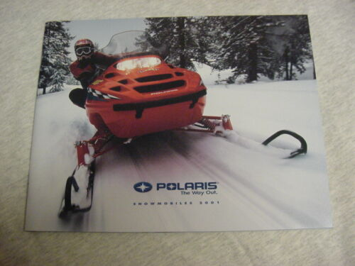 Vintage Polaris 2001 Snowmobile Catalog Brochure