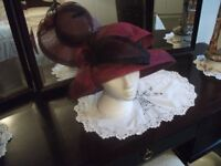 Hat / Maroon Hat made by Jacques Vert