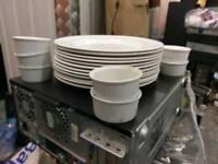 Glass plates & dessert Cups