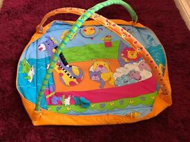 Baby play mat and baby cot music